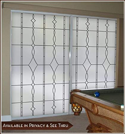 Allure Black Leaded Glass Privacy Static Cling Window Film - 32