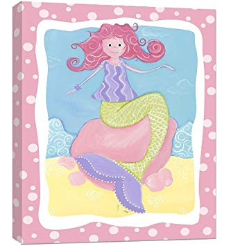 Doodlefish Wall Art, Milly Mermaid, 16