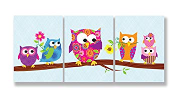 The Kids Room by Stupell Owls On A Branch 3-Pc. Rectangle Wall Plaque Set, 11 x 0.5 x 15,...