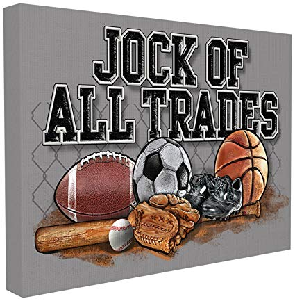 The Kids Room by Stupell Art, Jock of All Trades Sports Balls Wall Plaque, 24 x 30