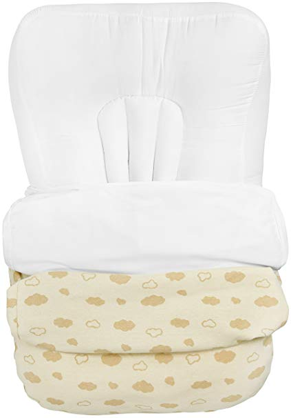AckBrands Lovey Lounger with FOUR Covers - Waterproof and Organic Undyed Cotton - Newborn Baby Infant Floor Seat Pillow