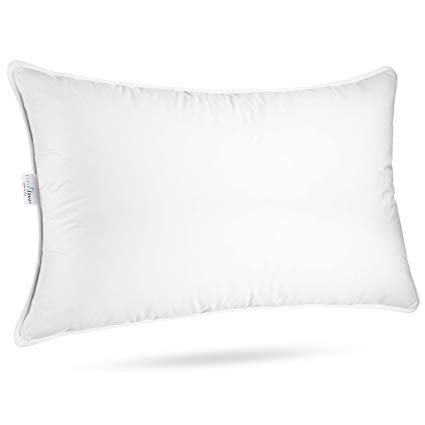 """ComfyDown Sleeping Pillow - European Goose Down, """"SOFT"""" Density Pillow, 650 Fill Power, 300-Thread Count Egyptian Cotton Cover - Hypoallergenic, MADE IN USA - (Standard)"""