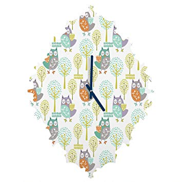 Deny Designs Wendy Kendall, Woodland, Baroque Clock, Small