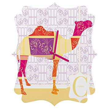 Deny Designs Jennifer Hill, Moroccan Camel, Quatrefoil Clock, Small
