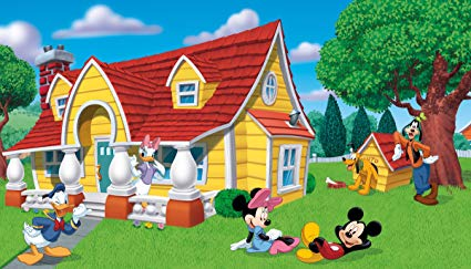 RoomMates JL1222M Mickey and Friends Prepasted Chair Rail Wall Mural