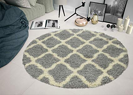 Sweethome Stores COZY2273-ROUND Shaggy Rug, 5'3