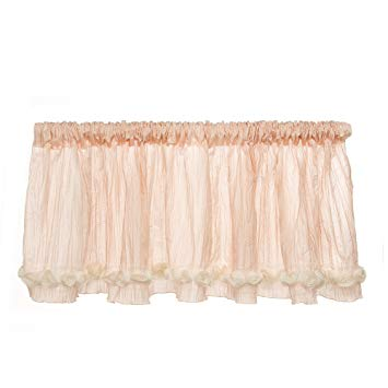 Glenna Jean Contessa Window Valance, Pink Crinkle with Roses