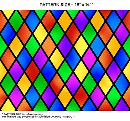 WindowPix 42 x 72 Diamond Carnival Pattern Window Film Static Cling Film UV Filtering Energy Saving