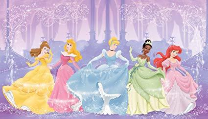 RoomMates JL1226M Disney Perfect Princess 6-Foot-by-10.5-Foot Prepasted Wall Mural