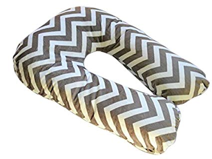 Sleep Zzz Bedtime Pillow w/removable washable cover- Grey Chevron Pattern