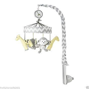 Circo Chevron Crib Musical Mobile - Plays Brahms' Lullaby - zigs 'n zags by Circo