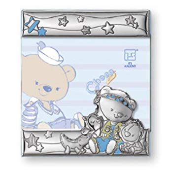 Silver Touch USA Sterling Silver Picture Frame, Choco Bear In The Safari