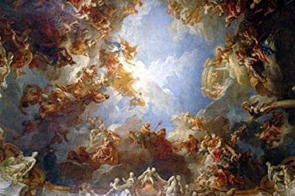 Heavenly Painting Versailles Wall Mural Wallmonkeys Peel and Stick Graphic (48 in W x 32 in H) WM153643