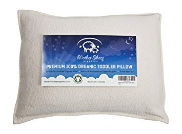 Organic Wool Toddler Pillow, All Natural &100% GOTS Certified Pure Organic, Wool 'Pearls'...