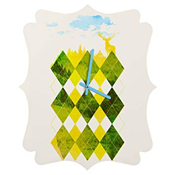 Deny Designs Robert Farkas, Elegant Forest, Quatrefoil Clock, Medium