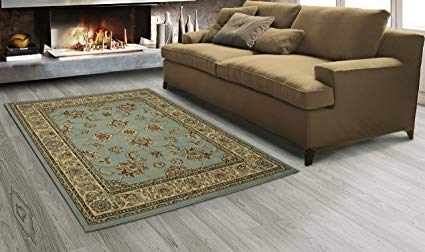 Sweet Home Stores King Collection Mahal Oriental Design Area Rug, 7'10 x 9'10, Seafoam