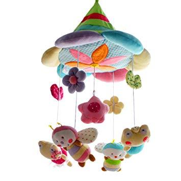 SHILOH Baby Crib Decoration Newborn Gift 60 tunes Plush Musical Mobile (Green Forest)